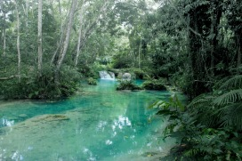 blue hole river, st. ann
